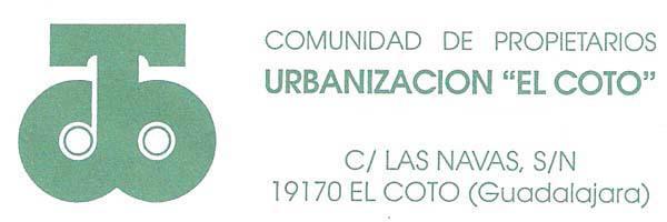 Comunidad propietarios Urbanización El Coto